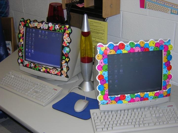 computer monitor decorations christmas